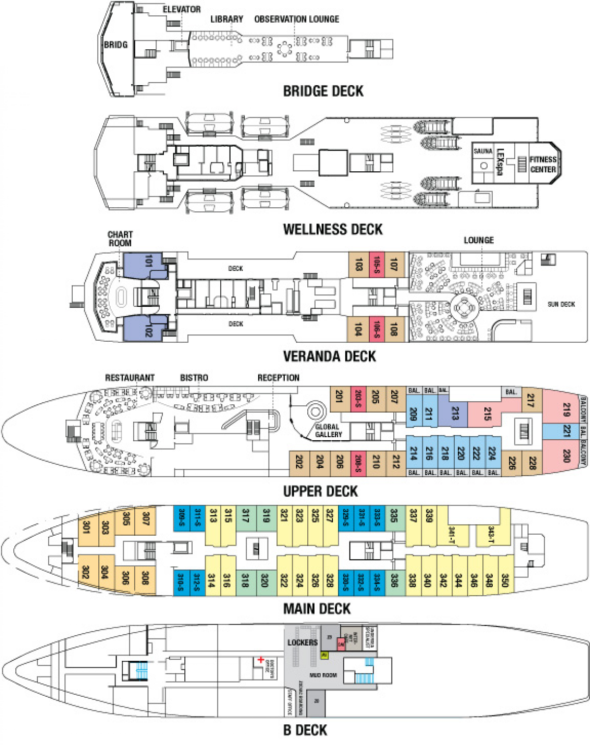 National Geographic Explorer - National Geographic Explorer Deck Plan